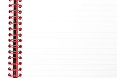 notepad TARGET775_1_ prążkowana czerwień Zdjęcie Royalty Free