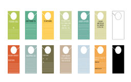 Notepad themed door hanger set Stock Images