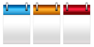 Notepad. Three notepad in three different color Stock Image