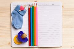 Notepad - top view Royalty Free Stock Photos