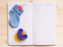 Notepad - top view Royalty Free Stock Photography