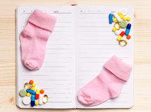 Notepad - top view Royalty Free Stock Image