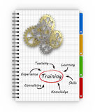 Notepad training concept Stock Images