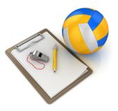 Notepad with volleyball Royalty Free Stock Photos