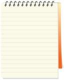 Notepad wektorowa ikona odizolowywająca w białym tle Obrazy Royalty Free