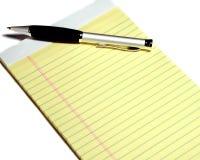 Notepad on white background - horizontal Stock Photo