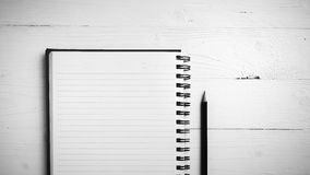 Notepad With Pen Black And White Style Royalty Free Stock Images