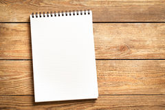 Notepad on Wood Stock Images