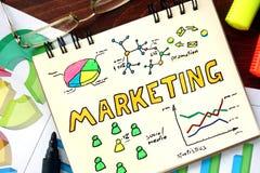 Notepad z marketingiem Fotografia Royalty Free