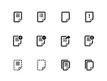 Notepaddokumentmapp och anmärkningssymboler. Fotografering för Bildbyråer