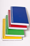 Notepads. Four colored notepads on white background Royalty Free Stock Photos