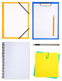 Notepads. Set of notepads and notepaper isolated on white background royalty free stock photography
