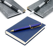 Notepads and ballpoint pens Royalty Free Stock Images