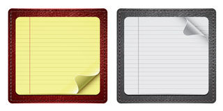 Notepads With Leather Stock Image