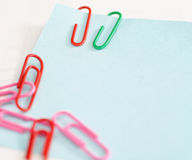 Notepads with paperclip Stock Photography