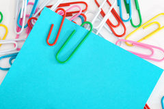 Notepads with paperclip Royalty Free Stock Photography