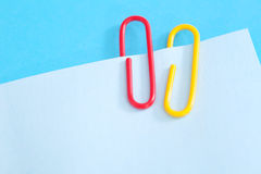 Notepads with paperclip Royalty Free Stock Photo