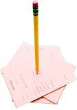 Notepads with pencil Royalty Free Stock Photos