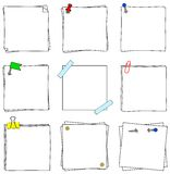 Notepads. Vector illustration of a set of several note papers Royalty Free Stock Photography