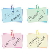 Notepaper. Selection of different notes for the office - additional ai and eps format available on request Royalty Free Stock Images