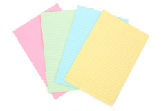 Notepaper. Colorful notepaper with white background Royalty Free Stock Image
