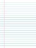 Notepaper. Writing note paper with cyan and red lines Royalty Free Stock Photos