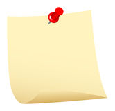 Notepaper. On white background, vector illustration Royalty Free Stock Image
