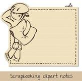notepaper illustrazione di stock