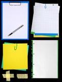 Notepaper. Isolated on black background stock photo
