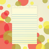 Notepaper on Abstract Background Royalty Free Stock Photos