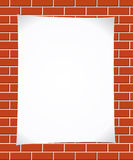 Notepaper on brickwall Stock Photos