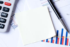 Notepaper on business plan Royalty Free Stock Photo