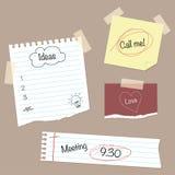 Notepaper & Doodles Stock Photo