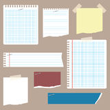 Notepaper & Doodles Stock Photography