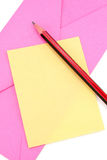 Notepaper and envelop. Communication concept Stock Image