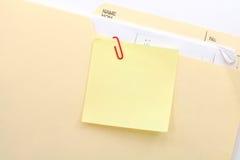 notepaper för mappmapp royaltyfri fotografi