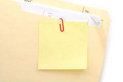 Notepaper and file folder Royalty Free Stock Image