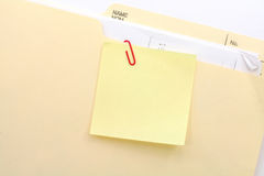 Notepaper and file folder Royalty Free Stock Photography