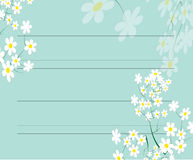 Notepaper flora design Royalty Free Stock Photo