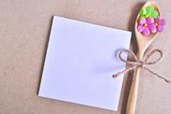 Notepaper with flower. Royalty Free Stock Photography