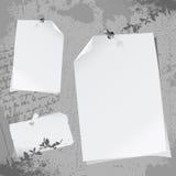 Notepaper illustration. Grunge style notepaper illustration vector Royalty Free Stock Photos