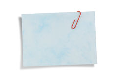 Notepaper isolated, path provided. Royalty Free Stock Photos