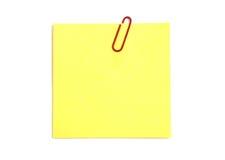 notepaper kolor żółty Zdjęcie Royalty Free