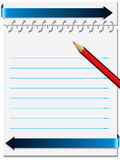 Notepaper with metallic ring Stock Photos
