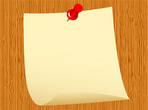 Notepaper On Wood Background Stock Photo