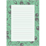Notepaper page with floral background. Vector illustration Royalty Free Stock Image