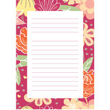 Notepaper page with floral background Royalty Free Stock Photography