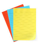 Notepaper (with Path) Stock Photography