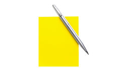 Notepaper and The Pen Royalty Free Stock Photo