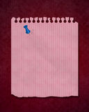 Notepaper on red background Royalty Free Stock Photo